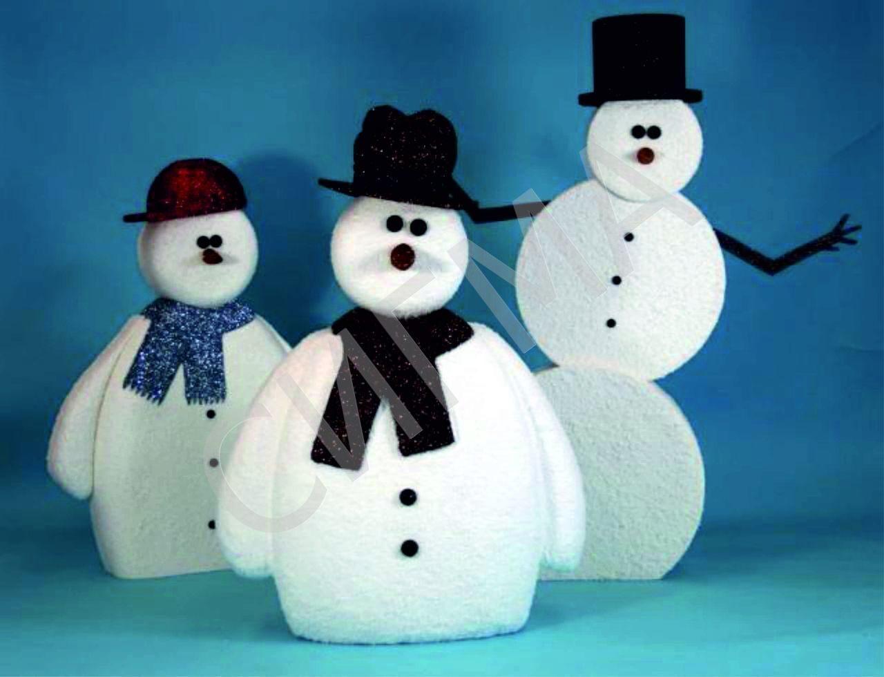 Большой снеговик своими руками на новый год